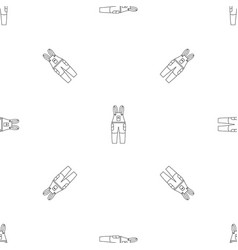 Work trousers pattern seamless vector