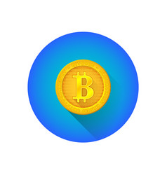 bitcoin symbol gold coin icon vector image
