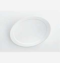 Blank frame on white wall vector