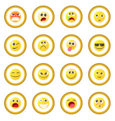 emoticon icon circle vector image vector image