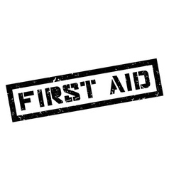 First Aid rubber stamp vector image vector image