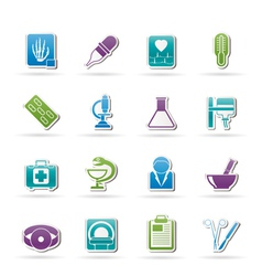 healthcare and medicine icons vector image