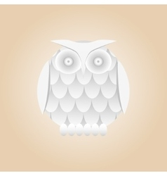 white gradient owl isolated vector image vector image