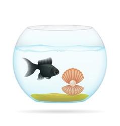 aquarium with fish 04 vector image vector image
