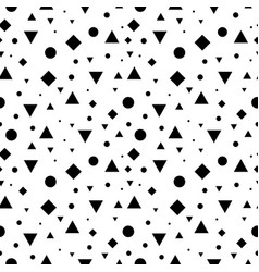 black and white vintage geometric shapes vector image vector image
