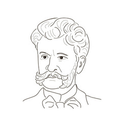 johann strauss the son the waltz king vector image vector image