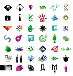 Collection of icons for business vector