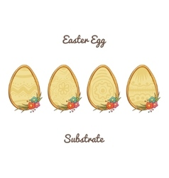 Easter Egg Substrate vector image vector image
