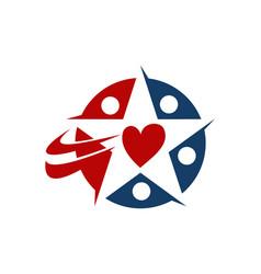 heart star vector image