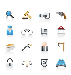 law and crime icons vector image vector image