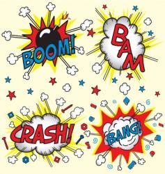 crash bam boom and bang vector image vector image