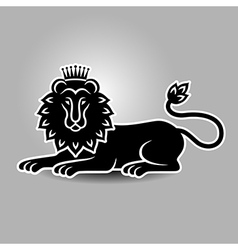 lion symbol vector image vector image