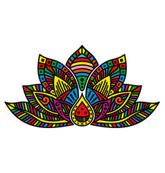 lotus flower tattoo vector image vector image