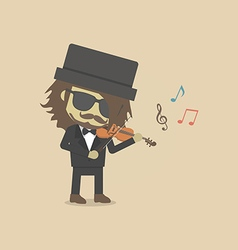 159violinist vector image