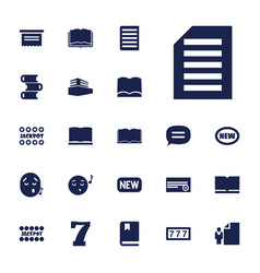 22 text icons vector