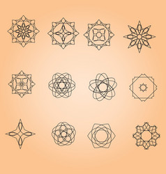 a set of minimal round patterns vector image