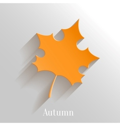 Abstract Orange Maple Leaf on White Background vector image