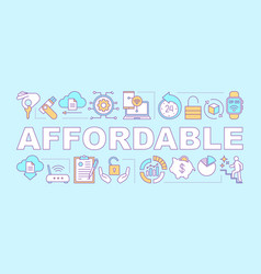Affordable word concepts banner vector