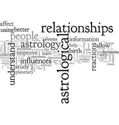 Astrology improves relationships vector