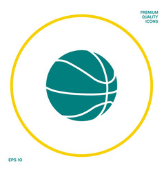 basketball ball icon graphic elements for your vector image