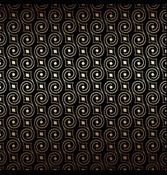 black and gold art deco seamless pattern with vector image