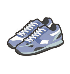 Blue sportive footwear vector