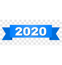 Blue tape with 2020 title vector