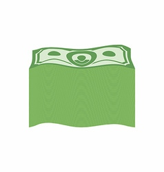 Bundle money Big pile dollars vector