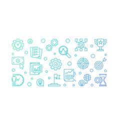Business goals outline on vector