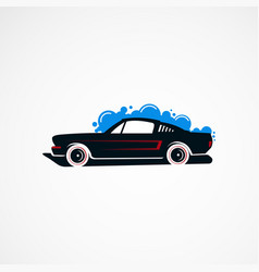 Car wash classic concept logo icon element and vector