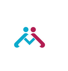 Community care logo template vector
