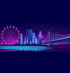 Concept background with night city vector