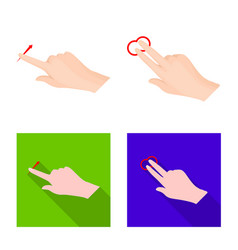 Design touchscreen and hand sign vector