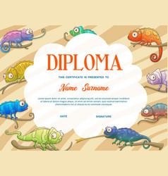 Diploma certificate kid template school education vector