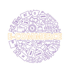 e-commerce online retail products business vector image