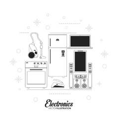 Electronics and technology design vector image vector image