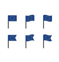 european union flag icons set symbols eu flag vector image