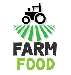 Farm food tractor white background image vector