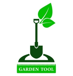garden tool sign vector image