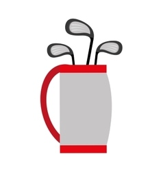 Golf bag and bats graphic vector
