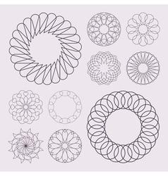 Guilloche elements vector