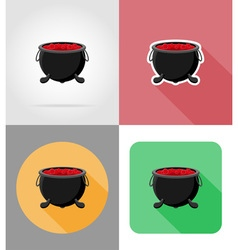 halloween flat icons 08 vector image
