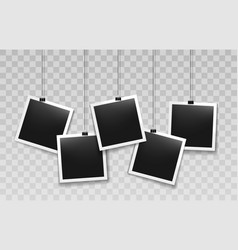 hanging instant photo frames vector image