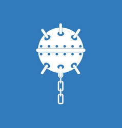Icon military naval mine vector