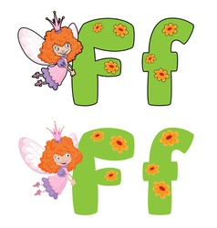 letter F fairy vector image