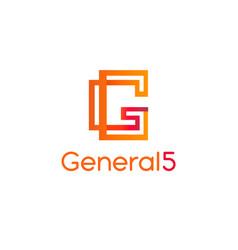 letter g logoabstract letter g logo design vector image
