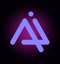 letters ai a i logo multi colour icon vector image