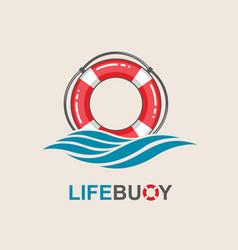 lifebuoy design element vector image