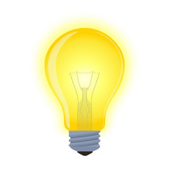 light bulb - glowing element shining lamp vector image