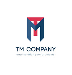 Logo for tm company name vector